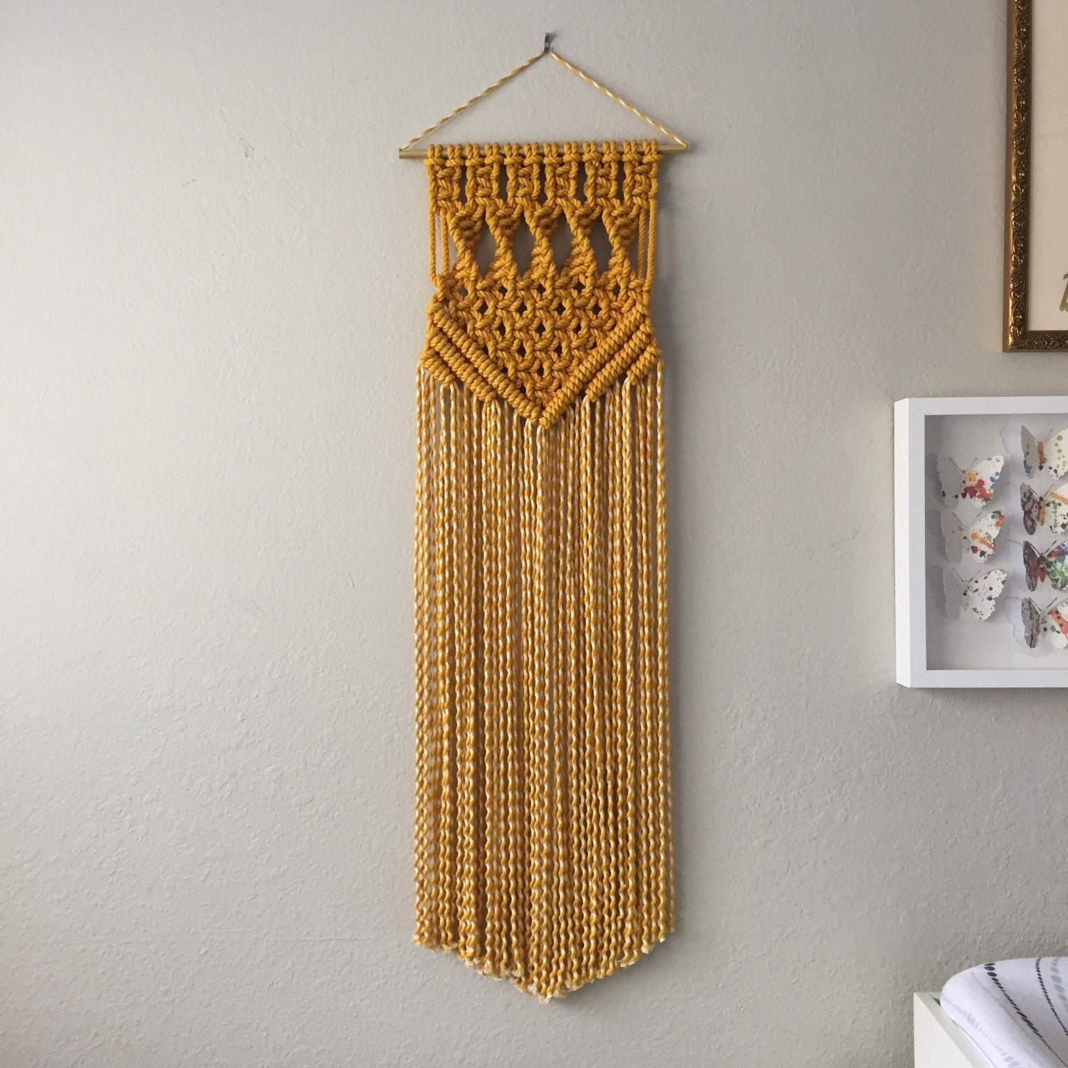 Macrame patterns macrame pattern macrame wall hanging for Wall hanging