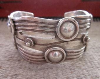 """WILLIAM SPRATLING """"River of Life"""" Vintage Sterling Bracelet"""