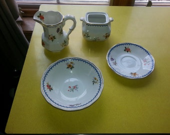 "Antique Set of 28 Piece Enoch Wedgwood ""Lowestoft"" England Dish Set RARE!"