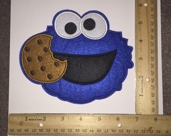 Large Ready to ship Cookie Monster Patch