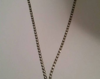 Vintage rhinestone necklace choker costume jewelry wedding bride prom