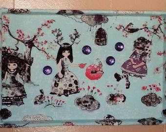 Alice in Wonderland Magnetic Memo Board