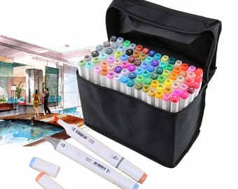 Touch New 30 40 60 80 Colors Set Artist Dual Head Sketch Markers Set School Drawing Sketch Twin Pen Broad Fine Points Copic alternative