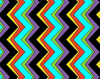 Black Chevron Vertical Cotton Fabric from The Painted Ponies line by Quilting Treasures