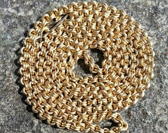 Handmade 14kt solid gold chain.