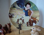 Walt Disney Snow White Seven Dwarfs Collector Plate by Knowles China Co. 1988 With a Smile and a Song, Childhood Memory Decor