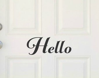 Hello Front Door Decal Hello Door Decal Front Door Decal Vinyl Door Decals Front Door Decal Hello Decal Hello Vinyl Decal Front Door Sticker