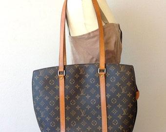 Louis Vuitton Brown Monogram Canvas Babylon Vintage Large Tote Shoulder Bag