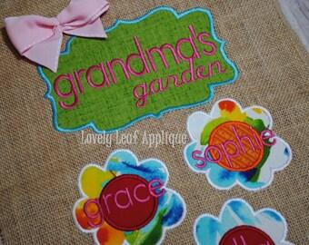 DIGITAL ITEM: Grandma's Garden Embroidery Design Set