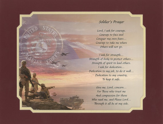 Military Poem Soldier S Prayer