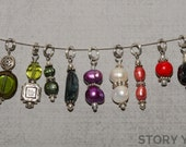 Gumbo Stitch Markers, Set 23, Set of 9 Markers with Petite Ring
