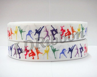 "7/8"" Dance Grosgrain Ribbon"