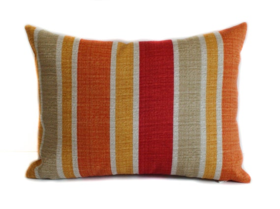 Outdoor pillow cover 12x16 Red outdoor pillow by PillowCorner