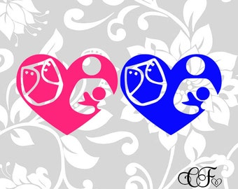 Baby Wearing Breastfeeding SVG