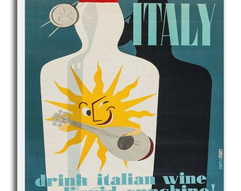 Italy Travel Poster Canvas Art Italian Wall Decor Print xr698
