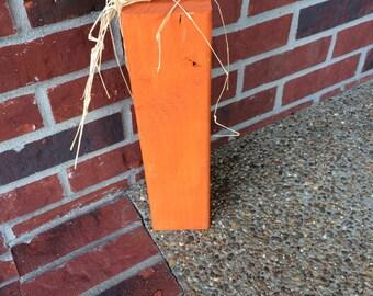 Fall Autumn Halloween Home Decor Wooden Pumpkin