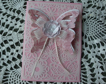 All Occasion Card, Birthday, Thinking of You, Get Well Soon, for her, Sympathy card, Thank you, Handmade, 3D effect, embossed, greeting card
