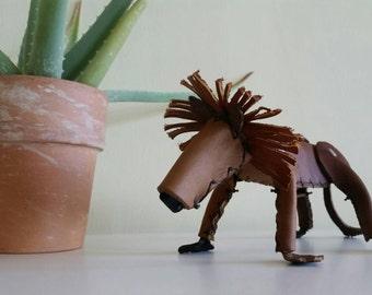 Leather Lion Figurine