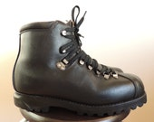 Vintage SWISS MILITARY Bally Hiking black leather Heavy Boots, size 28 cm