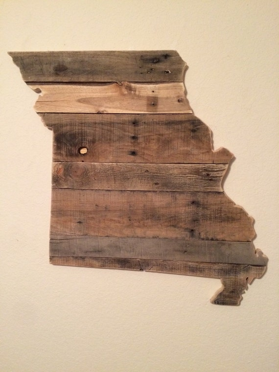 Reclaimed Wood Missouri Sign