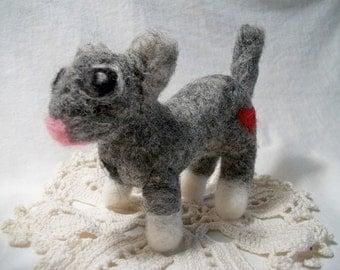 Needle Felted Kitty, FeltWithAHeart,  Wool Cat, Handmade Wool Cat