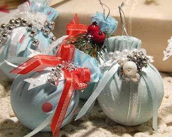 Christmas balls, Christmas ornaments, set of 6 Christmas balls, glass ball ornaments, Christmas decoration.
