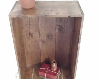 Wonderful Old Rustic Wine Crate, Box, Storage, Shelf