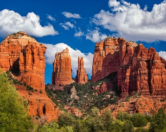 Sedona Arizona Landscape Photography Print or Wrapped Canvas Cathedral Rock Red Rock Fine Art  Photograph Wall Art Decor