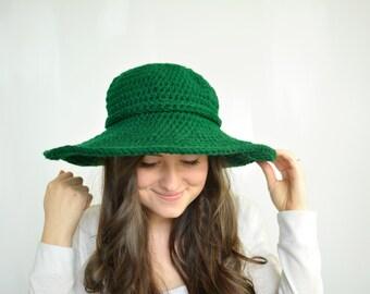 Chunky Crochet Wide-Brim Hat, Winter/Summer Floppy Hat, Sun Hat   THE GEORGIANNA