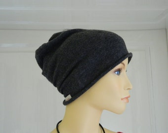 "Beanie cap ""Yannik"", knitwear, handmade, 100 % Cashmere, present for her, present for him"
