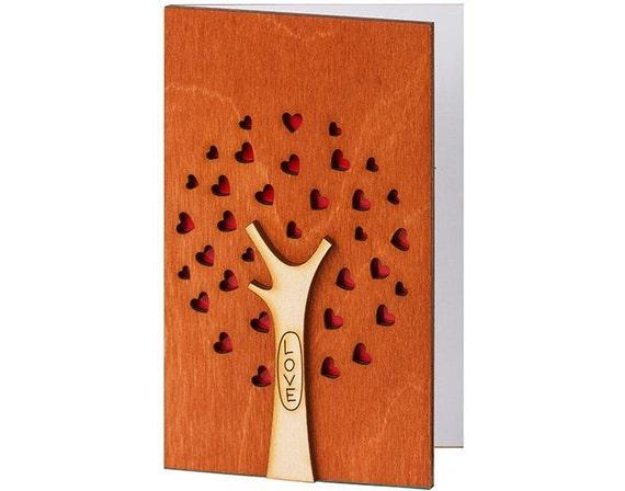 Wood Gift Ideas 5th Wedding Anniversary: 5th Wedding Anniversary Card Wood Anniversary Gifts By