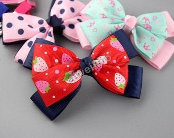 Girls Hair Bow, DIY hair bow accessories,bow appliques