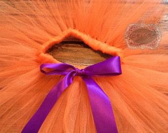 Orange Tutu Purple Bow Tutu Halloween Tutu Birthday Tutu Custom Tutu Newborn Tutu Baby Tutu Girl Tutu Photo Prop Tutu Skirt