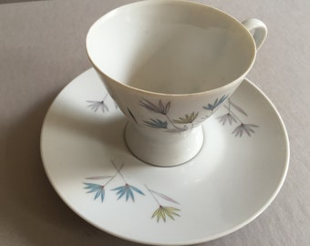 ROSENTHAL Bluetenfein Cup and Saucer Raymond Loewy Made in Germany