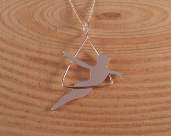 Sterling Silver Trapeze Artist Necklace