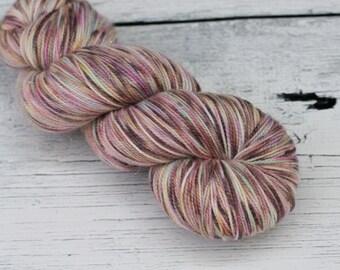 Sparkle Sock - Superwash Merino - Nylon - Sock Yarn -  Wool -OOAK- Hand Dyed