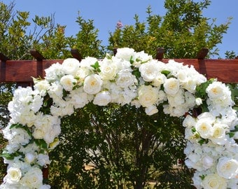 Wedding Arch, Ceremony Arch, Chuppah Arch, Silk Flower Arch, Wedding Arch, Rustic Wedding Flowers, Hydrangea Archway