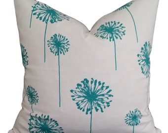 Dandelion True Turquoise Designer Cushion Pillow Cover 45 x 45cm FREE POSTAGE Australia Wide