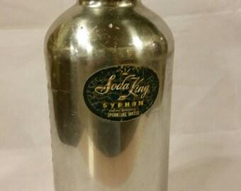 Soda King Syphon seltzer bottle