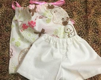 Pillowcase shirt and shorts set