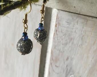 Mosaic Blue Earrings