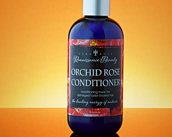 Orchid Rose Natural Hair Conditioner. Hair Mask for Dry Damaged Hair. Colored Hair Conditioner, Damaged Hair Conditioner