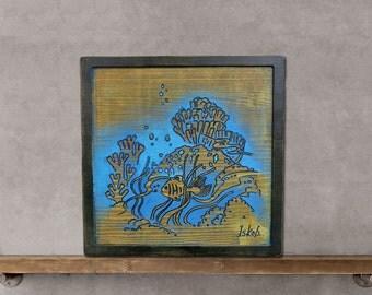 Fish Home Decor, Fish Decor, Fish Decoration, Wood Fish Wall Decor, Home Decoration Fish, Wood Fish Decor, Wood Art Fish, Wood Decor Ocean