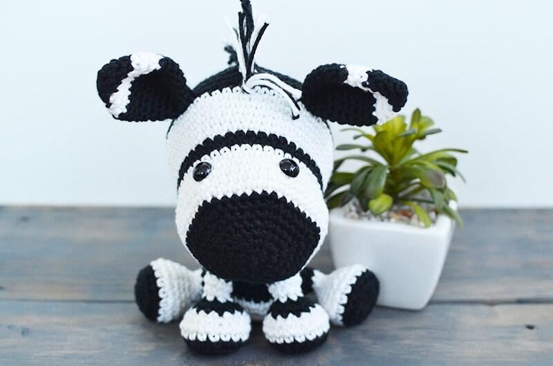 Crochet Amigurumi Zebra Pattern : Zebra Crochet Pattern. Zara The Zebra Amigurumi Crochet