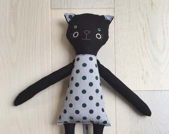 May and Juniper Children's Handmade Cat Cloth Toy - Made to Order