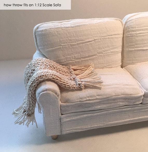 Shabby Chic Handmade Miniature Dollhouse Sofa Or Chair Throw
