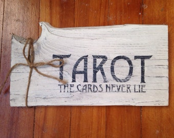 Tarot Rustic Wood Sign