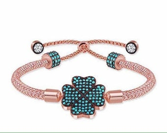 Four-leafed Clover Bracelet