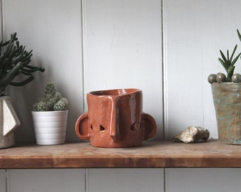 Ceramic Head Plant Pot