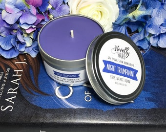 Night Triumphant | 8oz tin | A Court of Mist and Fury Inspired Soy Candle
